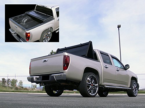 Autobotusa Black Tri-Fold Soft Truck Bed Tonneau Cover for 1983-2011 Ford Ranger Regular/Extended Cab | 1994-2010 Mazda B2300 / B2500 / B3000 / B4000 Pickup | Styleside 6' ft Short Bed