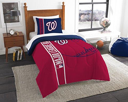 The Northwest Company MLB Washington Nationals Printed Twin Comforter & Printed Sham, 64