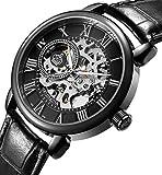 Sweetbless Wristwatch Men's Royal Classic Roman Index Hand-Wind Mechanical Watch Black