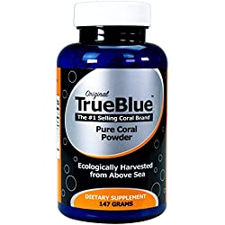 Premium Coral Calcium Supplement - Pure Coral Powder (147g) - From Okinawa Japan with 73 Vital Minerals and Elements - Contains Magnesium and Vitamin D3 - 70-Day Supply
