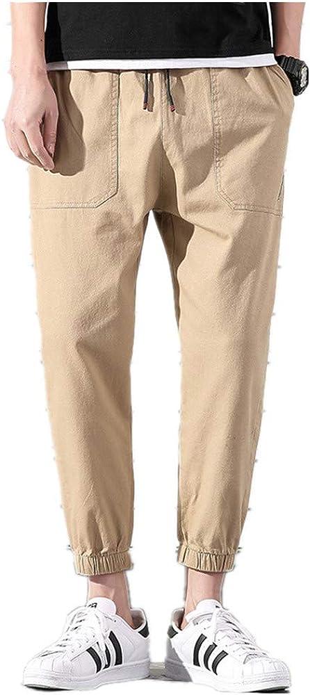 Men/'s Sport Pants Casual Mid Waist Yoga Jogger Pants with Pockets Drawstring