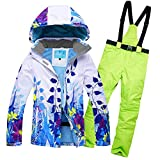 Women's Waterproof Snowboard colorful Ski Jacket and Pants Set