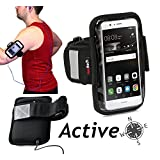 Navitech Black Running / Jogging / Cycling Water Resistant Sports Armband For TheHTC Desire M9s