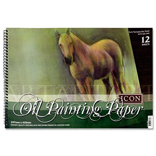 Premier Stationery Icon, 240 g/mq, formato A3, 30 fogli, rilegatura a doppia-Blocco per pittura a olio C3270966
