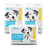 Paw Inspired 36ct Ultra Protection Disposable Male Wraps (Belly Bands), Large