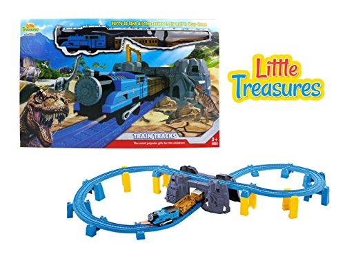 Little Treasures Musical Train With Lights Join The Journey On The  1 Train With Tracks  Thru Dinosaur Caves Up And Down Hills And Mountains Traveling Over Rocky Hills Great Toy Gift Train Set