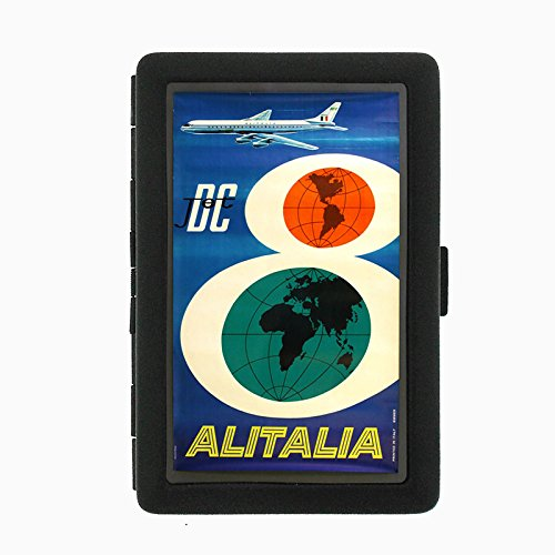 perfection-in-style-black-color-metal-cigarette-case-d-076-dc-jet-airlines-alitalia