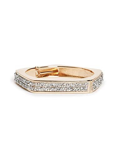 amazon com g by guess women s gold tone rhinestone cuff bracelet