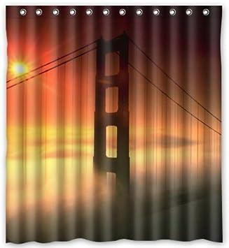 Shower Curtain Standard Store Custom Amazing San Francisco Golden Gate Bridge Wasserdichter Polyester Duschvorhang