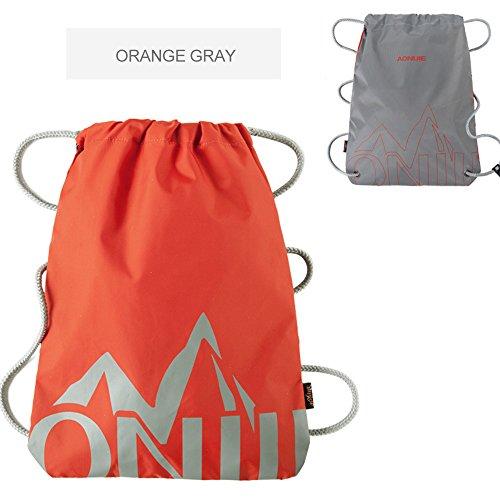 IWang Mochila para escalada al aire libre, movimiento de acampada, doble hombro, mochila para ciclismo, deportes, azul y negro, 42*34cm Orange color matching grey