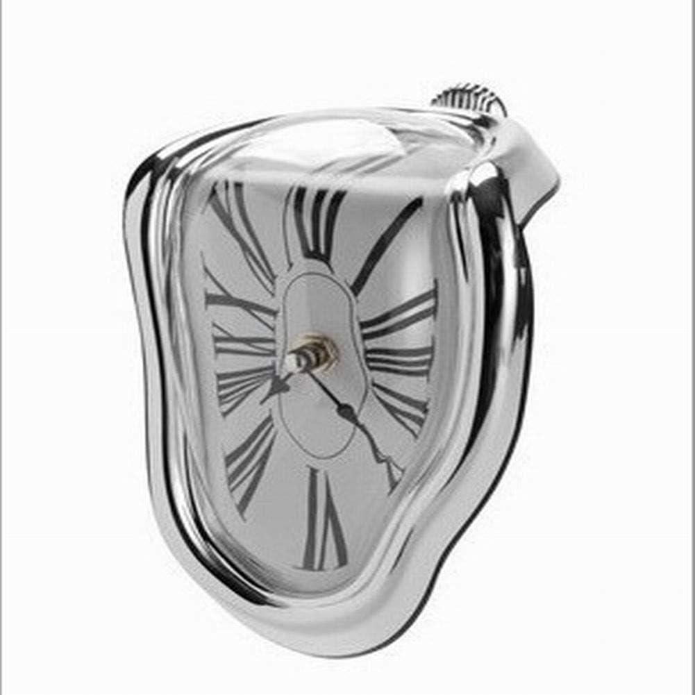 Mayyou Reloj de fusión, distorsionada Escritorio Reloj Mesa fusión Reloj de Pared Tiempo Flujo Decorativo Divertido Salvador Dali Estilo