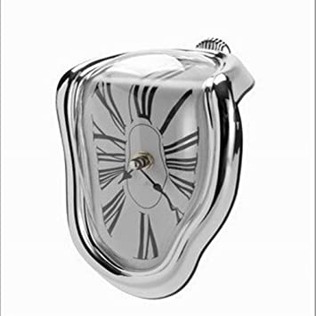 SELUXU Novela Surrealista fusión distorsionada Reloj de Pared Surrealista Salvador Dalí Estilo Plata decoración casera Regalo: Amazon.es: Hogar
