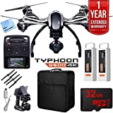Beach Camera Yuneec Typhoon Q500 4K Quadcopter Drone UHD Ultimate Bundle Includes Travel Backpack, Two Batteries, 32GB Card, Microfiber Cloth, and 1 Year Warranty Extension