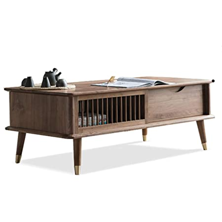 Side Table Modern Wooden Coffee Table Black Walnut Living