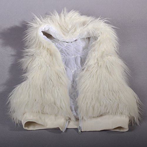 Realizar Chaleco Navidad Dance Ohlees® Light Abrigo Up Coat Faux Vest Led Chaleco Fur Parte qnpwPt