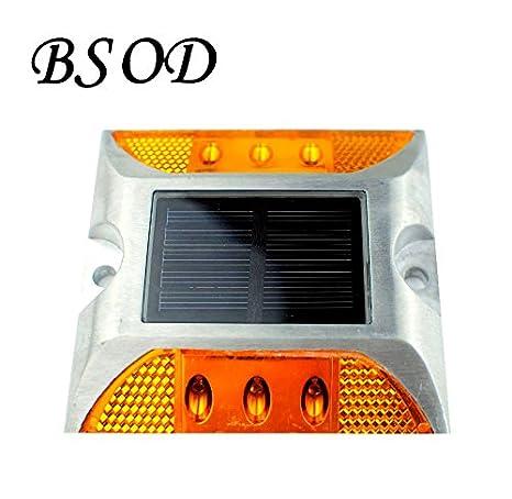 Roadway Safety Aluminum Waterproof Led Solar Powered Road Stud Light Reflective Ground Light Path Deck Dock Warning Light 100% Guarantee