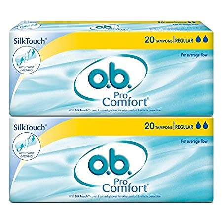O.B. Pro Comfort Regular Tampons (40 Count)
