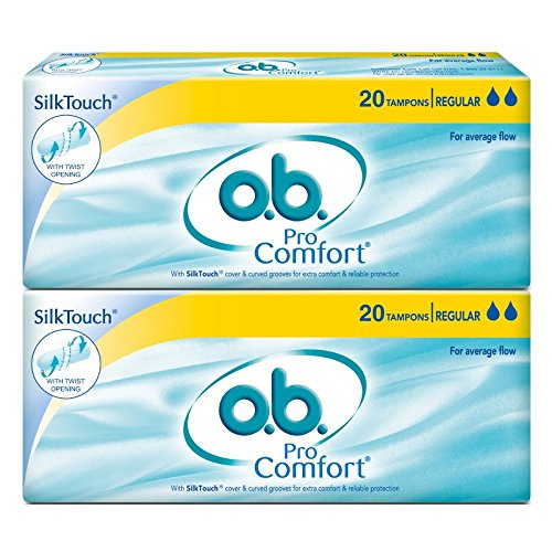 O.b. Pro Comfort Regular Tampons - 20 Pieces (Pack of 2) product image