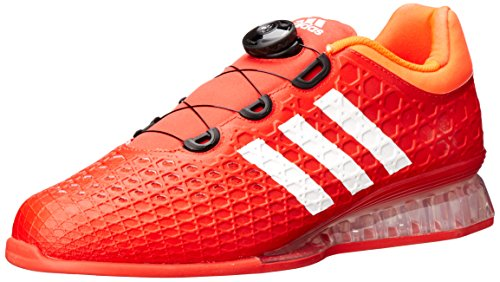 adidas Men's Leistung 16 Weightlifting Shoes, Red/White/Infrared, 11 D(M) US