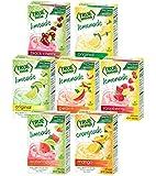 True Lime 7 flavor variety Pack: WATERMELON AQUA FRESCA, LIMEADE, Original Lemonade, Peach, Black Cherry, Raspberry & Mango Orange. True Citrus Assorted Beverage Pack: (7 boxes).