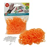 Loom Rubber Bands - 300 pc Glow in The Dark Rubber Band Refill Pack (ORANGE) -100% Latex Free