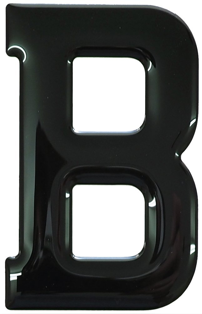Gel Domed Self Adhesive Number Plate Letter B Galaxy 3D Resin