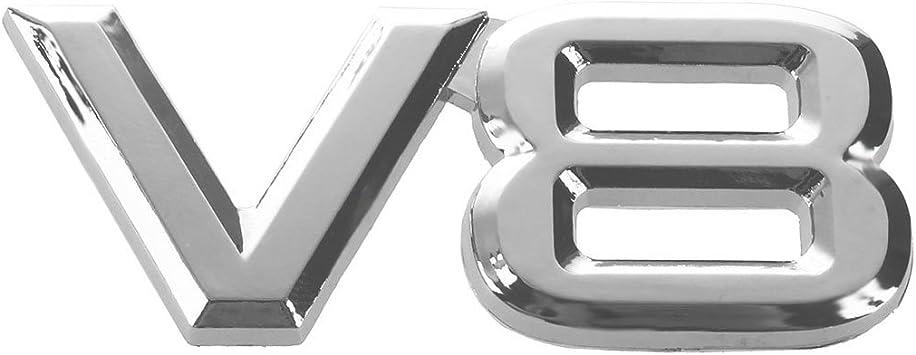 Sodial R 7 5x3 5cm Auto Kfz V8 Aufkleber 3d Chrom Sticker Abzeichen Emblem Auto