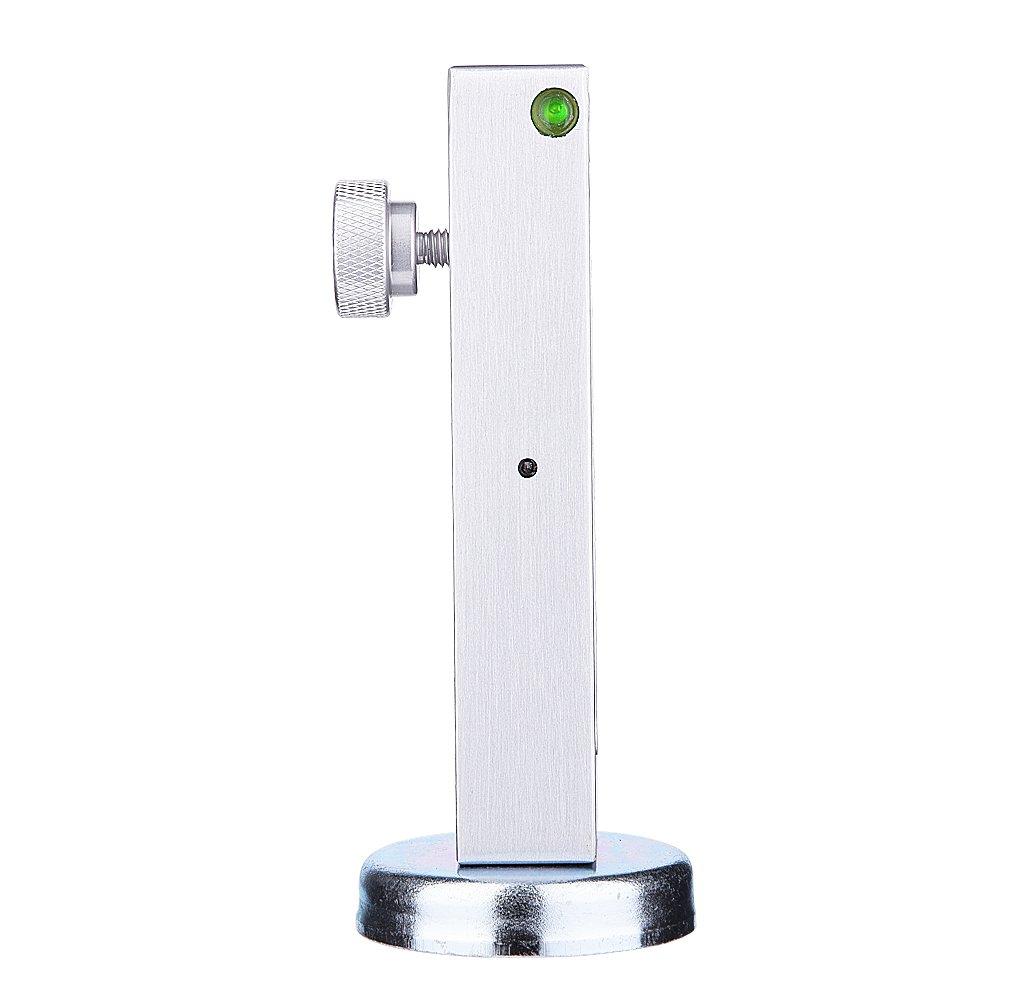 alineaci/ón universal del eje de rueda del puntal del echador de la rueda de apoyo de la herramienta del indicador magn/ético del coche ajustable del coche Calibrador magn/ético
