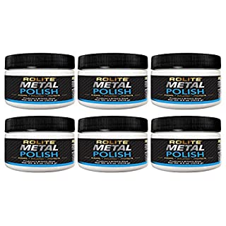 Rolite Metal Polish Paste – 4.5oz, Industrial Strength Polishing Cream for Aluminum, Chrome, Stainless Steel & Other Metals, 6 Pack