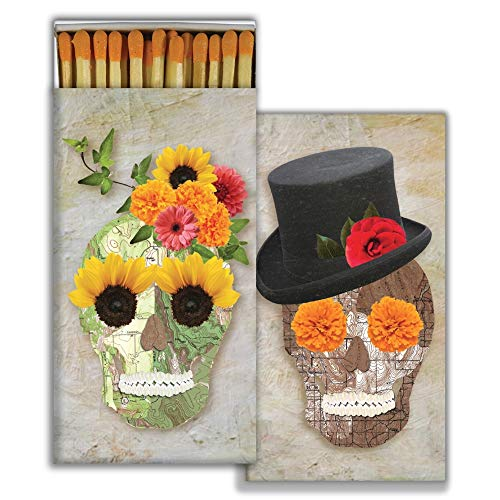 (HomArt - Match Box Set of 2 - Skull Collage - Orange)