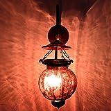 Handmade Vintage Melon Shaped Glass Plum Wall Lamp Sconces Hanging Lighting Bronze Bracket