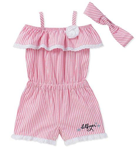 Tommy Hilfiger Baby Girls Romper, Pink, 3-6 Months