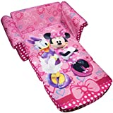 Marshmallow Furniture, Children's Upholstered 2 in 1 Flip Open Sofa, Disney Minnie's Bow-tique, by Spin Master