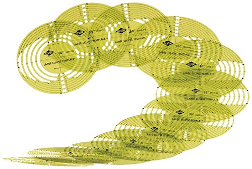 Alvin 3903-96 Extra Large Series Ellipse Template Set by Alvin