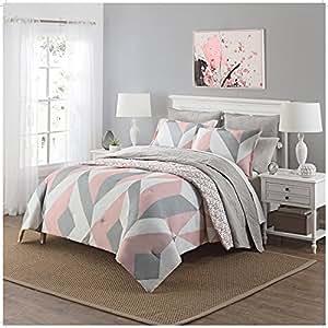 Amazon.com: OSD 3pc Girls Light Pink Grey White Geometric