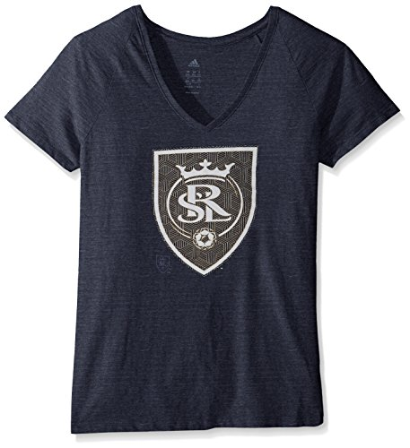 MLS Real Salt Lake Women's Liquid Hexagon Tri-blend V-Neck Tee, X-Large, - Real Women Tri