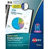 Avery Diamond Clear Heavyweight Sheet Protectors, Acid Free, Pack of 25 (75304)