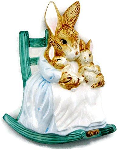 Schmid Beatrix Potter The Tale of Peter Rabbit Wall Plaque Room Decor (Mother Rabbit with Bunnies) -