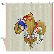 CafePress - Cajun Fleur De Lis - Decorative Fabric Shower Curtain