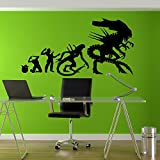 Alien Aliens Science-fiction Si-fi Horror Space Extraterrestrial Creature Spaceship M.o.t.h.e.r Wall Art Wall Decals Wall Stickers Tr158 A
