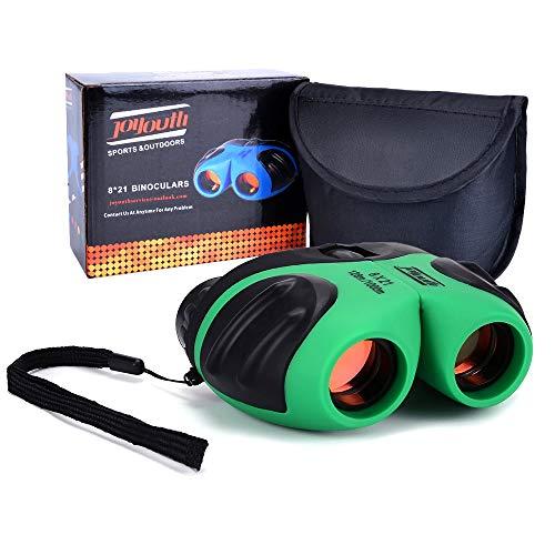 Binoculars for Kids, HITOP 8x21 Compact Shockproof Binoculars for Bird Watching, Best Gift Idea As a Stocking Stuffers for Kids (Green)