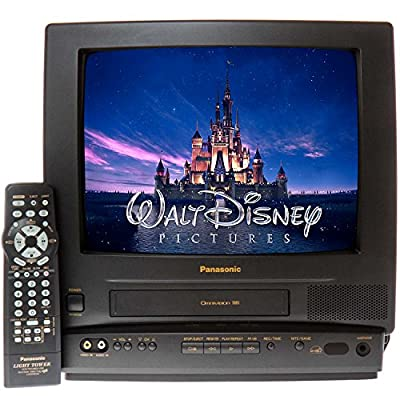 "Panasonic PV-M1338 13"" TV/VCR Combo + 12 Disney VHS Movies"