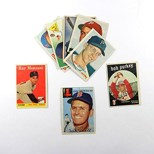 Complete Run of All Topps Baseball Cards Made In The 50's (8 Cards) Years Included: 1952, 1953, 1954, 1955, 1956, 1957, 1958, and 1959