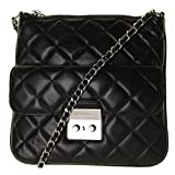 michael kors black quilted bag - MICHAEL Michael Kors Womens Sloan Leather Quilted Crossbody Handbag Black Small
