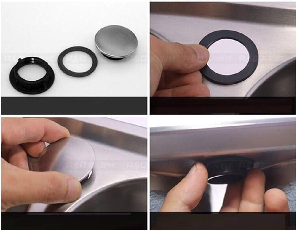 Toyvian 2Pcs Sink Rubinetto Buco Coperchio Cucina Rubinetto Foro Coperchio in Acciaio Inox Sapone Dispenser Copertura per Cucina