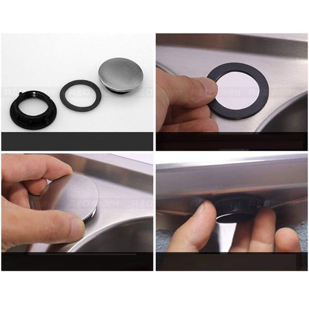 Toyvian 4Pcs Sink Rubinetto Foro Coperchio Cucina Rubinetto Foro Coperchio in Acciaio Inox Sapone Dispenser Copertura per la Cucina