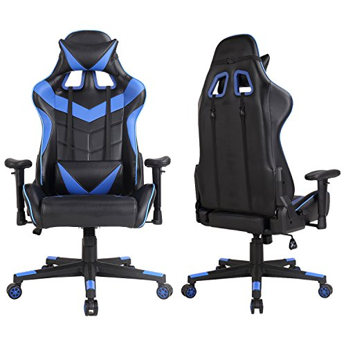 51wlKEP%2B9pL - Racing-Chair-Swivel-Office-Executive-Gaming-Computer-Chair-Desk-Task-Ergonomic-Rocker-PU-Leather-with-Lumbar-Support-and-Head-Support-Cushion-for-Home-Adjustment-High-Back-Chairs
