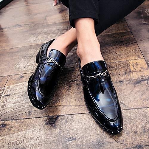 39 Blue color Verni Fashion Soirée Des Taille Hommes Rond Oxford Chaussures Eu Mocassins Red Pour Bout Cuir Occasionnel Hilotu De Black f6RxwqUFn
