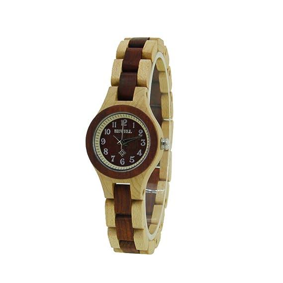 Reloj mujer Fashion cuarzo analógico reloj resistente al agua natural Madera Quartz Reloj De Pulsera: Amazon.es: Relojes