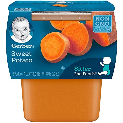 Gerber 2nd Foods Sweet Potatoes, 4 Ounce Tubs, 2 Count (Pack of 8)